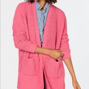 Style&Co Chenille Open-Front Cardigan